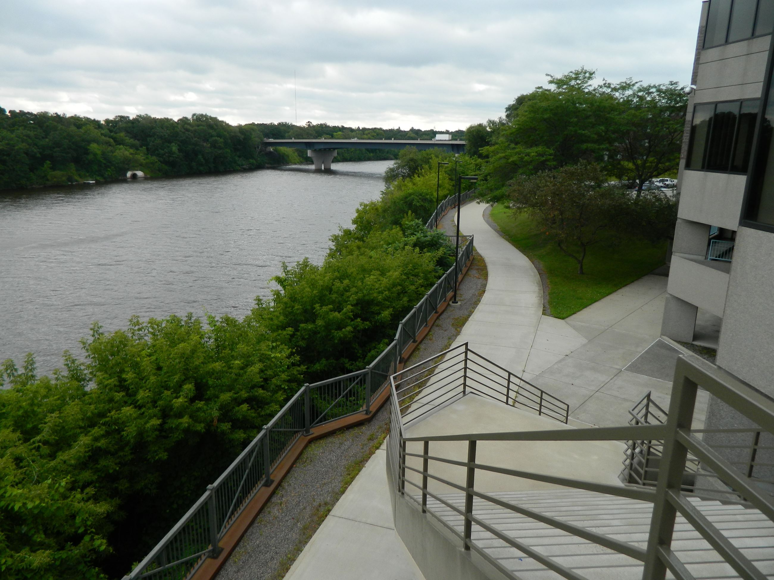 View from Convention Center of of Beaver Island Trail overlooking river 3