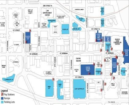 Central Busines District Parking Map